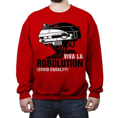 Viva la Robolution - Crew Neck Sweatshirt - Crew Neck Sweatshirt - RIPT Apparel
