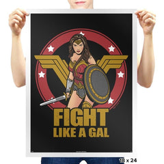 Fight like a Gal - Prints - Posters - RIPT Apparel