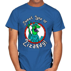 Sweet land of Lizardy - Mens - T-Shirts - RIPT Apparel