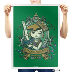 Cut Grass Get Rupees - Prints - Posters - RIPT Apparel