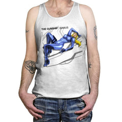 The Gunship: Samus - Record Collector - Tanktop - Tanktop - RIPT Apparel