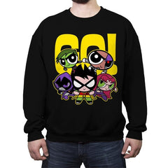 Puff-titans Go! - Crew Neck Sweatshirt - Crew Neck Sweatshirt - RIPT Apparel