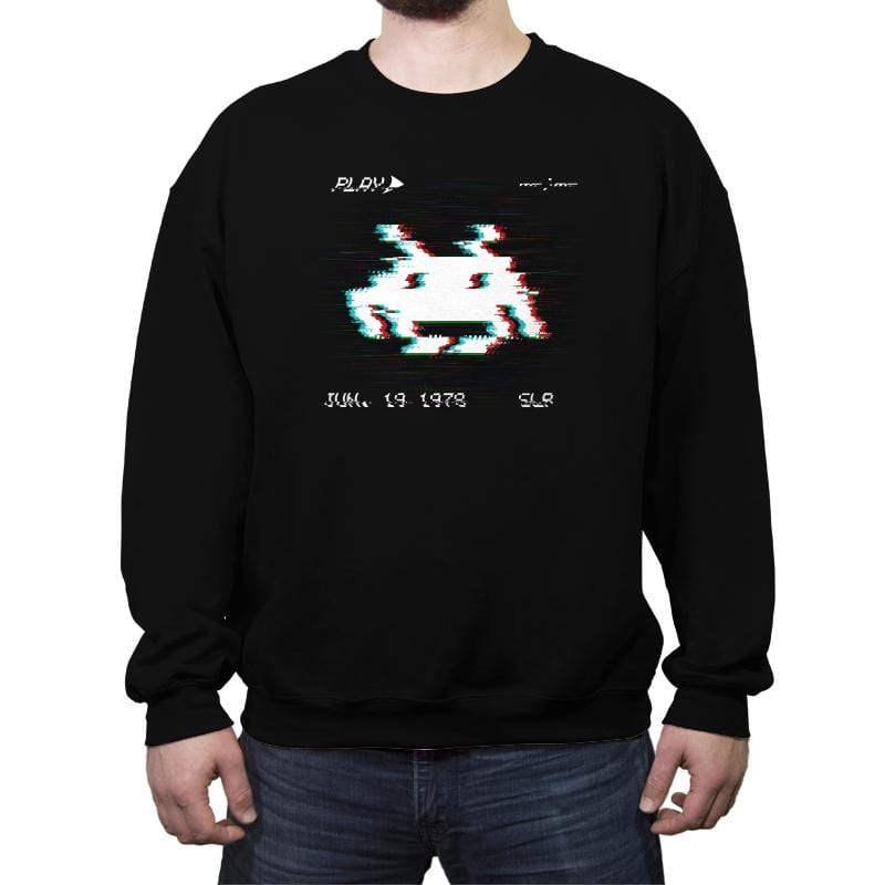 Glitch Invader - Crew Neck Sweatshirt - Crew Neck Sweatshirt - RIPT Apparel