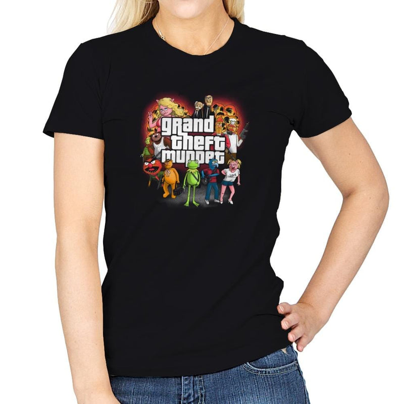 Grand Theft Muppet Exclusive - Womens - T-Shirts - RIPT Apparel
