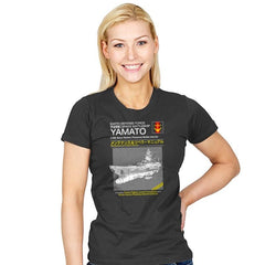 Yamato Repair Manual Exclusive - Anime History Lesson - Womens - T-Shirts - RIPT Apparel