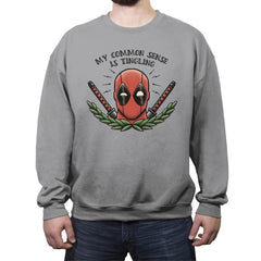 Common Sense - Crew Neck Sweatshirt - Crew Neck Sweatshirt - RIPT Apparel