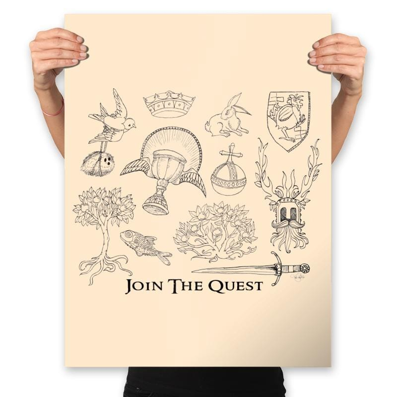 The Quest For The Grail - Prints - Posters - RIPT Apparel