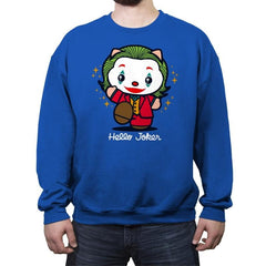 Hello Jokster - Crew Neck Sweatshirt - Crew Neck Sweatshirt - RIPT Apparel