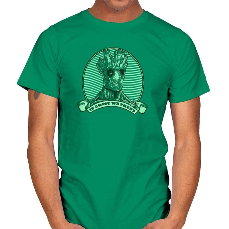 In Groot We Trust Exclusive - Mens - T-Shirts - RIPT Apparel