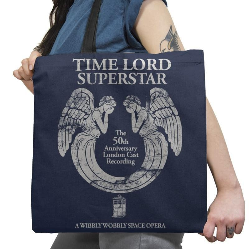 Time Lord Superstar - Record Collector - Tote Bag - Tote Bag - RIPT Apparel