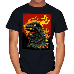 Godzilla on Fire - Mens - T-Shirts - RIPT Apparel