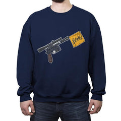 Han Shot First  - Crew Neck Sweatshirt - Crew Neck Sweatshirt - RIPT Apparel