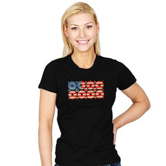 USA Donuts Exclusive - Star-Spangled - Womens - T-Shirts - RIPT Apparel