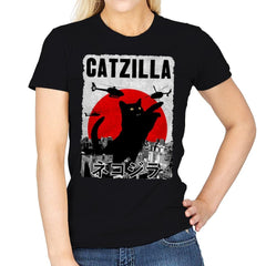 Catzilla City Attack - Womens - T-Shirts - RIPT Apparel