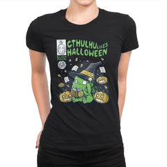 Cthulhu Likes Halloween - Anytime - Womens Premium - T-Shirts - RIPT Apparel