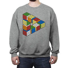Magic Puzzle Cube - Crew Neck Sweatshirt - Crew Neck Sweatshirt - RIPT Apparel