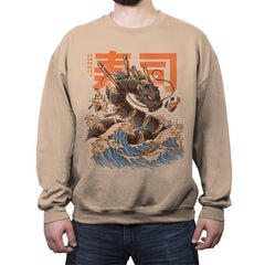 Great Sushi Dragon  - Crew Neck Sweatshirt - Crew Neck Sweatshirt - RIPT Apparel