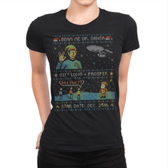 Gift Long and Prosper - Ugly Holiday - Womens Premium - T-Shirts - RIPT Apparel