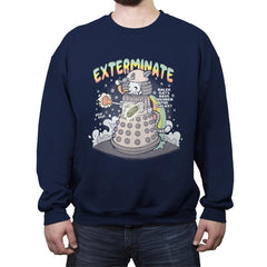 Dalek Cat - Crew Neck Sweatshirt - Crew Neck Sweatshirt - RIPT Apparel