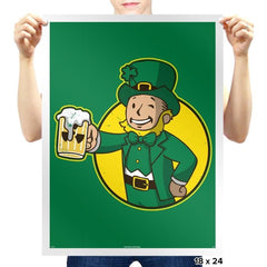Vault Leprechaun Exclusive - St Paddys Day - Prints - Posters - RIPT Apparel