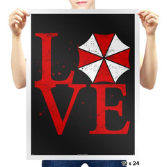Umbrella Love Exclusive - Dead Pixels - Prints - Posters - RIPT Apparel