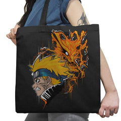 Demon Fox - Graffitees - Tote Bag - Tote Bag - RIPT Apparel