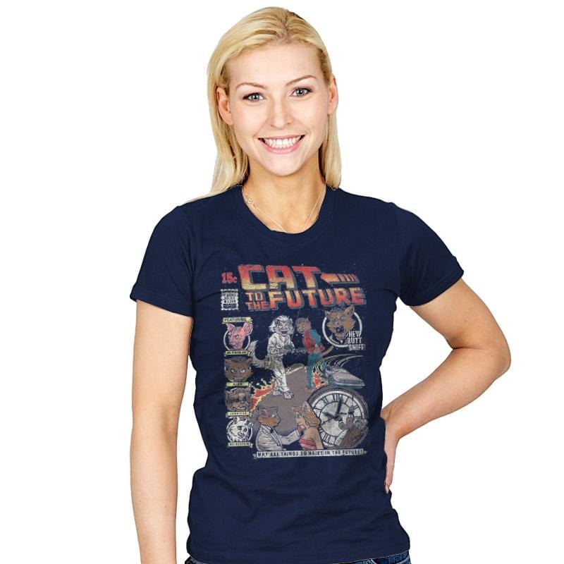 Cat to the Future - Womens - T-Shirts - RIPT Apparel