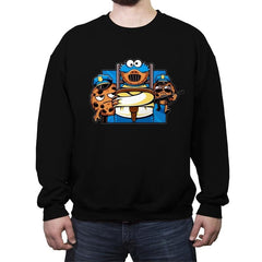 Cookie Devourer - Crew Neck Sweatshirt - Crew Neck Sweatshirt - RIPT Apparel