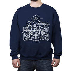 Old Hyrule - Crew Neck Sweatshirt - Crew Neck Sweatshirt - RIPT Apparel