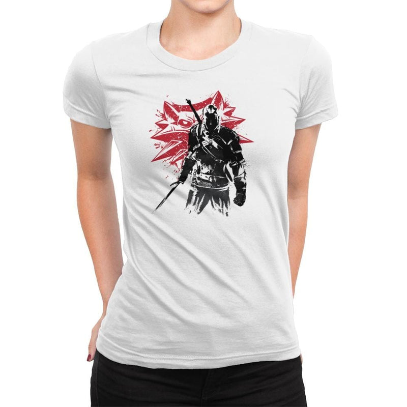 The Witcher Sumi-E - Sumi Ink Wars - Womens Premium - T-Shirts - RIPT Apparel