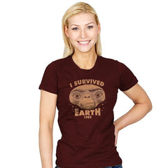 I Survived Earth - Womens - T-Shirts - RIPT Apparel