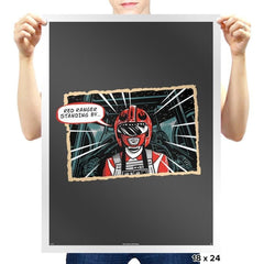 Red Ranger Standing By - Prints - Posters - RIPT Apparel