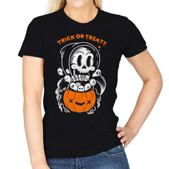 Death's Trick or Treat - Anytime - Womens - T-Shirts - RIPT Apparel