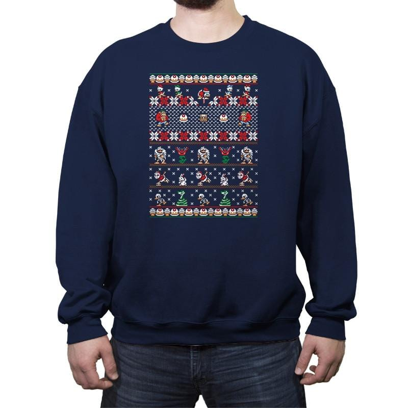 Merry Christmas Uncle Scrooge - Crew Neck Sweatshirt - Crew Neck Sweatshirt - RIPT Apparel