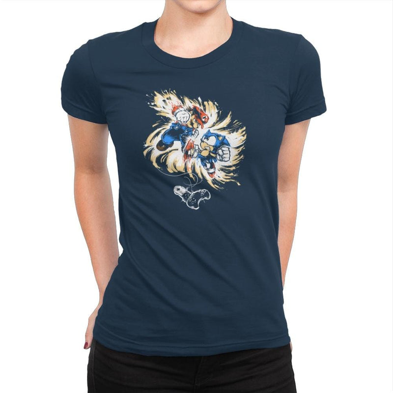 16 Bit Battle - 80s Blaarg - Womens Premium - T-Shirts - RIPT Apparel