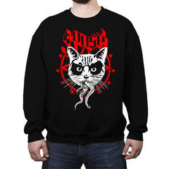 Black Metal Cat - Crew Neck Sweatshirt - Crew Neck Sweatshirt - RIPT Apparel