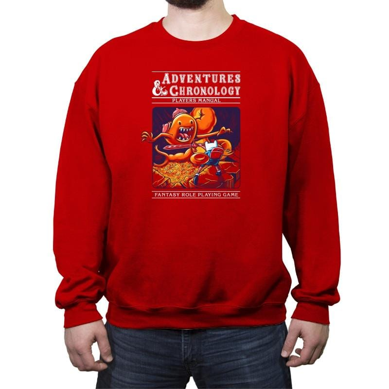 Adventures & Chronology - Crew Neck Sweatshirt - Crew Neck Sweatshirt - RIPT Apparel