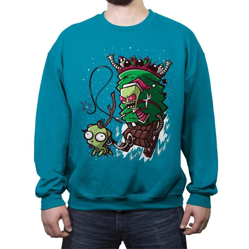 Zim Stole Christmas - Crew Neck Sweatshirt - Crew Neck Sweatshirt - RIPT Apparel