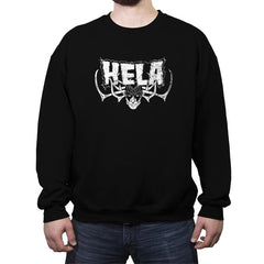 Goddess of Death and Metal - Crew Neck Sweatshirt - Crew Neck Sweatshirt - RIPT Apparel