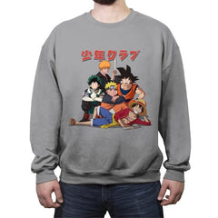The Shonen Club - Crew Neck Sweatshirt - Crew Neck Sweatshirt - RIPT Apparel