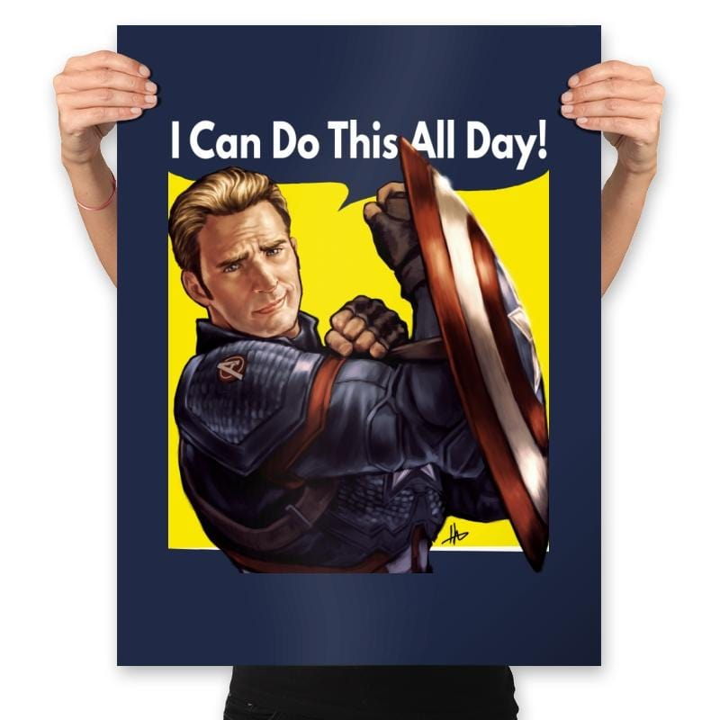 Cap Can Do It! - Prints - Posters - RIPT Apparel