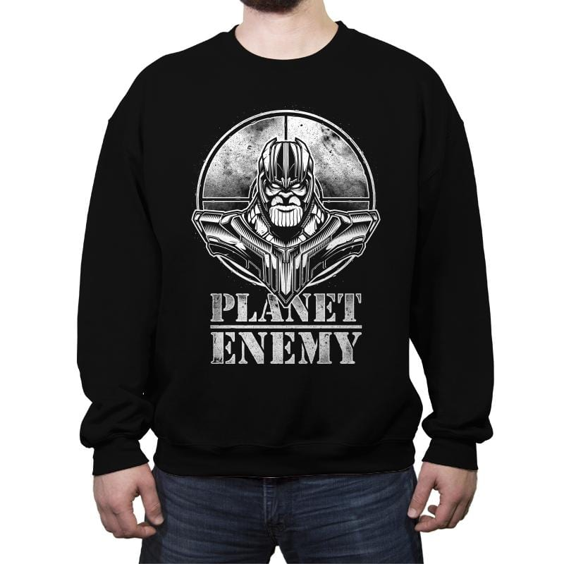 Planet Enemy - Crew Neck Sweatshirt - Crew Neck Sweatshirt - RIPT Apparel