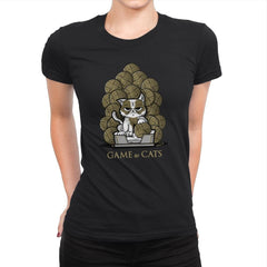 Game Of Cats - Womens Premium - T-Shirts - RIPT Apparel
