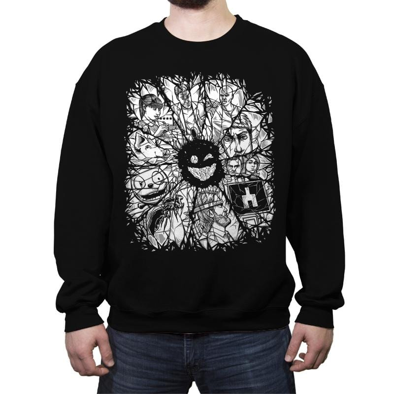 Dark Refractions - Crew Neck Sweatshirt - Crew Neck Sweatshirt - RIPT Apparel
