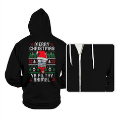 Merry Christmas Ya Filthy Animal - Hoodies - Hoodies - RIPT Apparel