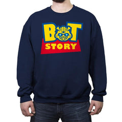Bot Story - Crew Neck Sweatshirt - Crew Neck Sweatshirt - RIPT Apparel