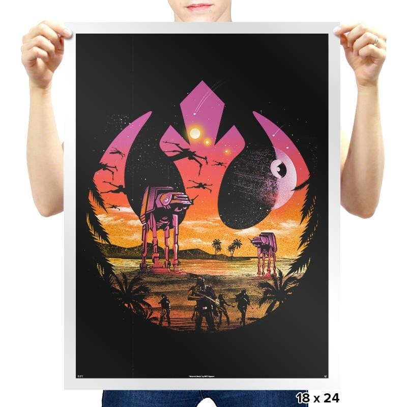 Rebellion Sunset - Prints - Posters - RIPT Apparel