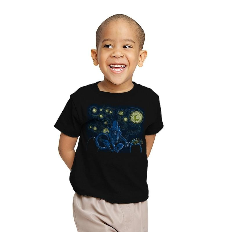 Starry Xenomorph - Youth - T-Shirts - RIPT Apparel