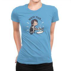 Wash Your Han - Womens Premium - T-Shirts - RIPT Apparel