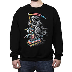 Death Enjoying Life - Crew Neck Sweatshirt - Crew Neck Sweatshirt - RIPT Apparel